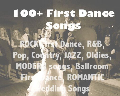 100+ First Dance Wedding Song